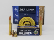 Federal 30-06 Springfield Ammunition Power-Shok 3006150LFA 150 Grain Copper Hollow Point 20 Rounds