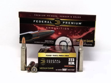 Federal 223 Rem Ammunition P223Q 60 Grain Nosler Partition 20 Rounds