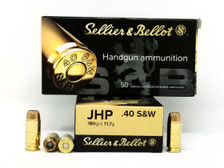 Sellier & Bellot 40 S&W Ammunition SB40C 180 Grain Jacketed Hollow Point 50 Rounds