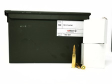 Saltech 7.62x51mm Ball M80 Ammunition 150 Grain Full Metal Jacket Boat Tail Ammo Can of 560 Rounds