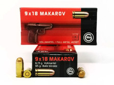 Geco 9x18 Makarov Ammunition 294540050 95 Grain Full Metal Jacket 50 Rounds