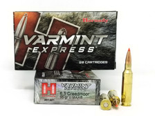 Hornady 6.5 Creedmoor Ammunition Varmint Express 81481 95 Grain V-Max Polymer Tip 20 Rounds