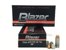 CCI 10mm Ammunition Blazer 3597 200 Grain Full Metal Jacket 50 Rounds
