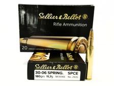 Sellier & Bellot 30-06 Springfield Ammunition SB3006E 180 Grain SPICE 20 Rounds