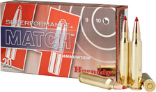 Hornady 5.56 X 45 mm Nato Ammunition Superformance Match H81268 73 Grain ELD-Match 20 Rounds