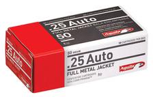 Aguila 25 ACP Ammunition 1E252110 50 Grain Full Metal Jacket 50 Rounds