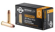 Prvi PPU 357 Mag Ammunition Handgun PPD357 158 Grain Jacketed Hollow Point 50 Rounds