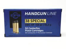 Prvi PPU 38 Special Ammunition Handgun PPH38SH 158 Grain Semi Wadcutter Hollow Point 50 Rounds