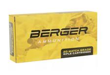 Berger 6.5 Creedmoor Ammunition Match Grade 31020 130 Grain Hybrid Open Tip Match Tactical 20 Rounds