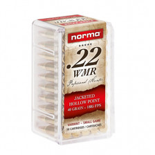 Norma 22 WMR Ammunition Varmint 297140050 40 Grain Jacketed Hollow Point 500 Rounds