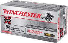 Winchester 22 LR Ammunition Super-X X22LR 40 Grain Copper Plated Lead Rounds Nose 50 Rounds