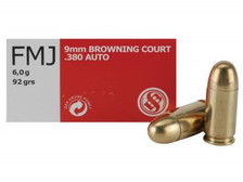 Sellier & Bellot 380 Auto Ammunition SB380A 92 Grain Full Metal Jacket Case of 1000 Rounds