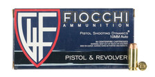 Fiocchi 10mm Auto Ammunition 10APHP 180 Grain Jacketed Hollow Point 50 Rounds
