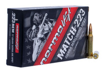 Norma 223 Rem Ammunition Match 10157502 77 Grain Hollow Point Boat Tail 20 Rounds
