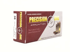 Precision One 38 Special Ammunition 996 125 Grain Copper Plated Hollow Point 50 Rounds