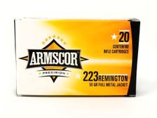 Armscor 223 Rem Ammunition 50162 55 Grain Full Metal Jacket Case of 1000 Rounds