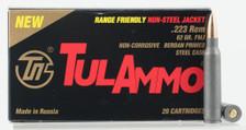 Tula 223 Rem Ammunition Range Friendly TA223625 62 Grain Full Metal Jacket 20 Rounds