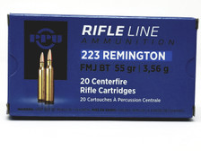 Prvi PPU 223 Rem Ammunition Standard Rifle PP223F1 55 Grain Full Metal Jacket Case of 1000 Rounds
