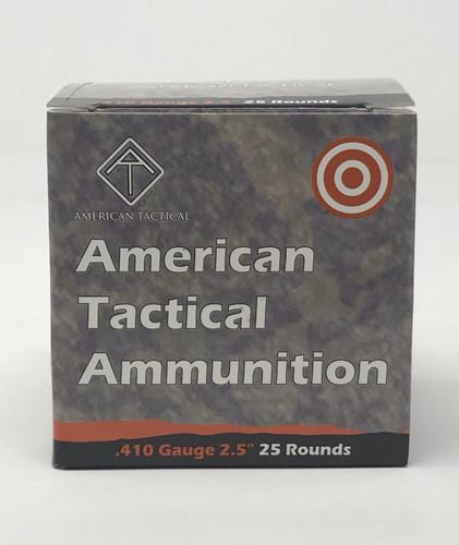 "American Tactical 410 Bore Ammunition ATIAYAV410T 2.5"" T Buck 9 Pellets 1410 fps 25 Rounds"