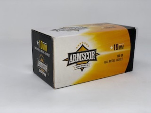 Armscor 10mm Ammunition ARM50440X *Blemished Box* 180 Grain Full Metal Jacket Value Pack 100 Rounds