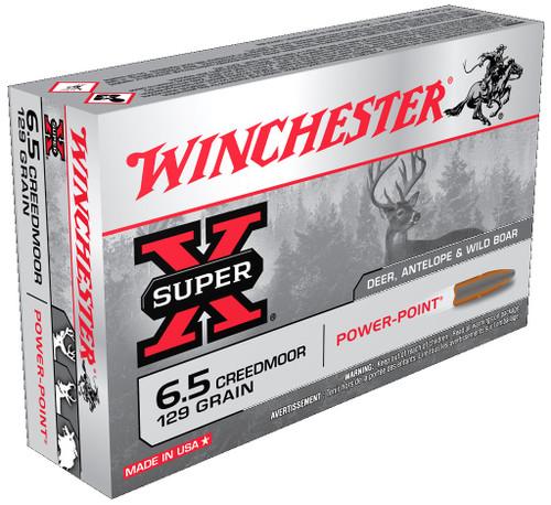 Winchester 6.5 Creedmoor Ammunition Super-X 129 Grain Power Point 20 Rounds