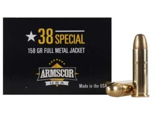 Armscor 38 Special Ammunition ARM50449CASE 158 Grain Full Metal Jacket Case 1200 Rounds