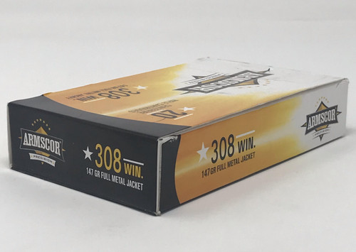 "Armscor 308 Win Ammunition ARM50170X *Blemished Box"" 147 Grain Full Metal Jacket 20 Rounds"