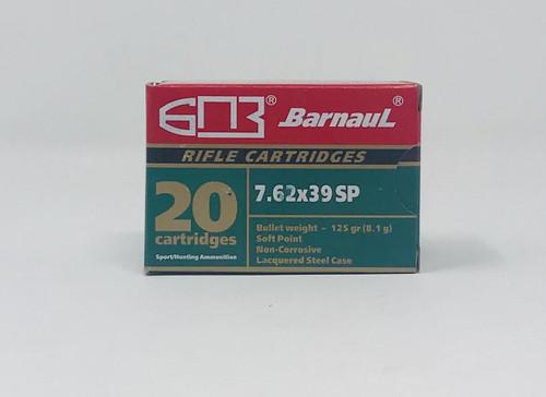 Barnaul 7.62x39mm Ammunition 125 Grain Soft Point Steel Cased CASE 500 Rounds