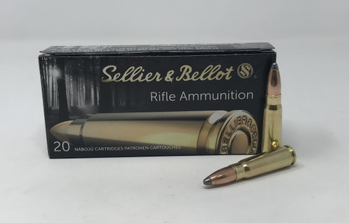 Sellier & Bellot 7.62x39mm Ammunition SB76239B 123 Grain Soft Point 20 Rounds