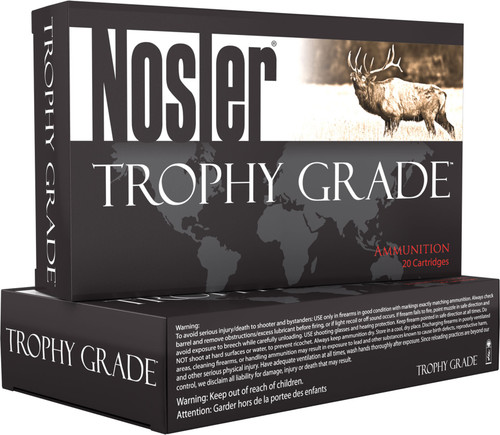 Nosler 280 Ack Imp Ammunition 60043 140 Grain AB Soft Point 20 Rounds