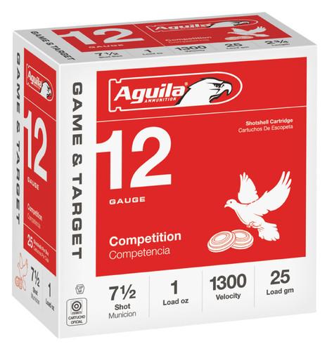 """Aguila 12 Gauge Ammunition 1CHB1327CASE 2 3/4"""" 1oz #7.5 Shot 1300 Fps Case 250 Rounds"""