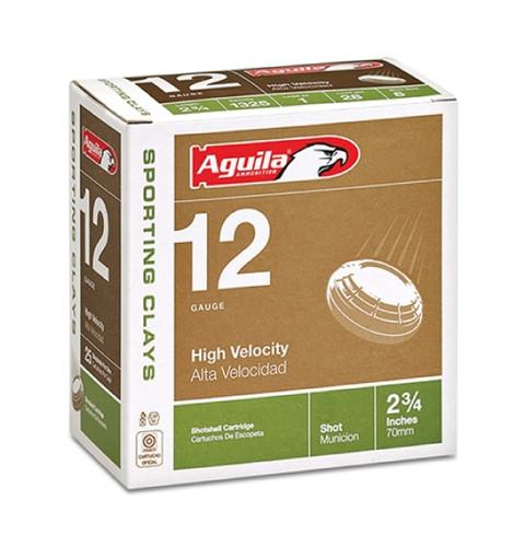 "Aguila 12 Gauge Ammunition 1CHB1285CASE 2 3/4"" 1 oz HV Sporting 1325 Fps #7.5 Shot Case 250 Rounds"
