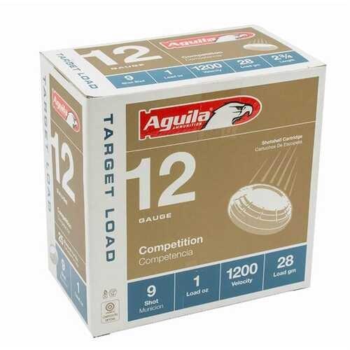 """Aguila 12 Gauge Ammunition 1CHB1306CASE 2 3/4"""" 1oz #9 Shot 1200 Fps Case 250 Rounds"""