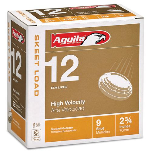"""Aguila 12 Gauge Ammunition 1CHB1254 2 3/4"""" 7/8 oz #9 Shot 1350 fps Case 250 Rounds"""