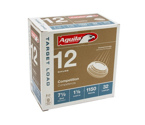 "Aguila 12 Gauge Ammunition 1CHB1282CASE 2 3/4"" 1 1/8oz #7.5 Shot 1150 Fps Case 250 Rounds"