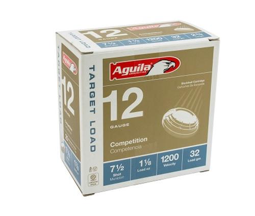Aguila 12 Gauge Ammunition 1CHB1357CASE 1 1/8oz 1200 Fps #7.5 Shot Case 250 Rounds