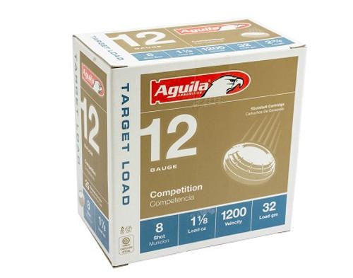 Aguila 12 Gauge Ammunition 1CHB1358CASE 1 1/8oz 1200 Fps #8 Shot Case 250 Rounds