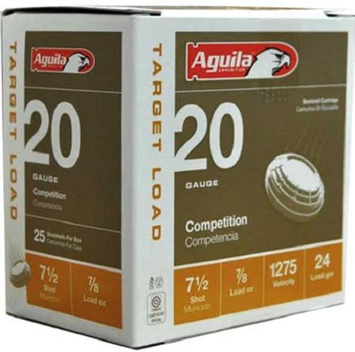 """Aguila 20 Gauge Ammunition 1CHB2037 2 3/4"""" 7/8oz 1275 Fps #7.5 Shot 25 Rounds"""