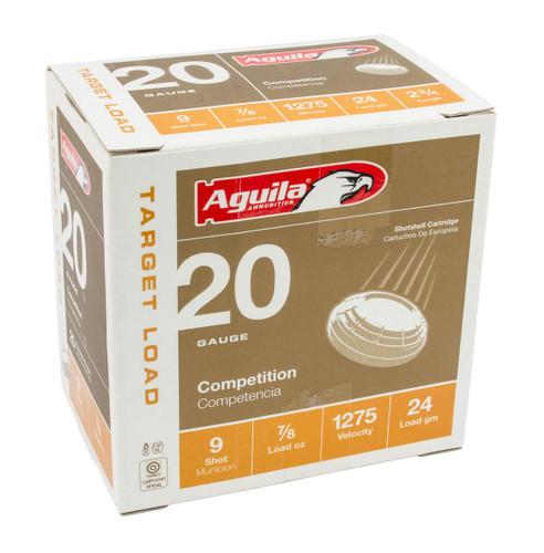 """Aguila 20 Gauge Ammunition 1CHB2039 2 3/4"""" 7/8oz 1275 #9 Shot 25 Rounds"""