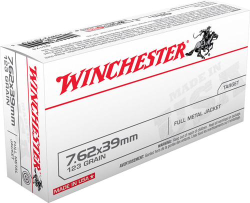 Winchester 7.62x39mm Ammunition Q3174 123 Gr Full Metal Jacket 20 rounds