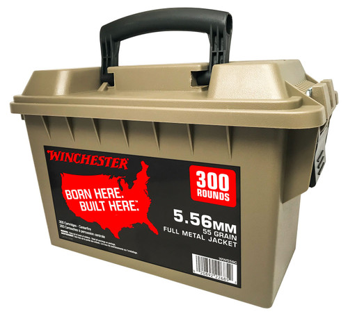 Winchester 5.56mm Ammunition WW556C 55 Grain Full Metal Jacket Can 300 Rounds