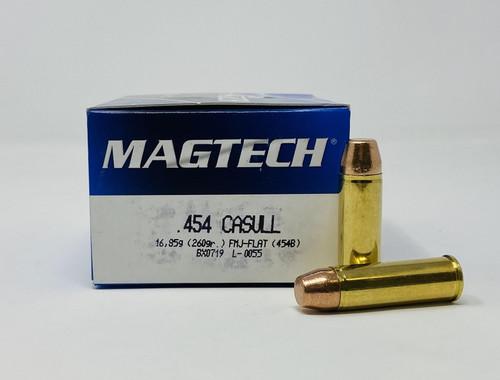 Magtech 454 Casull Ammunition MT454B 260 Grain Full Metal Jacket Flat 20 Rounds