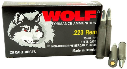 Wolf 223 Polyformance Ammunition 75 Grain Hollow Point 20 Rounds