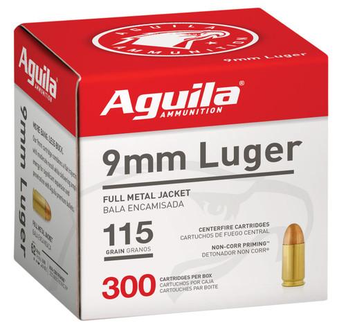 Aguila 9mm Ammunition 1E097700 115 Grain Full Metal Jacket Bulk Pack CASE 1200 Rounds