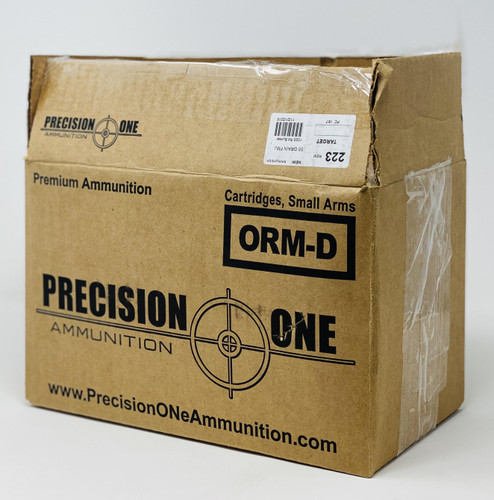 Precision One 223 Remington Ammunition PONE167 55 Grain Factory New Full Metal Jacket BULK 1000 rounds