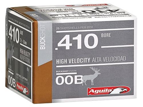 """Aguila 410 Bore Ammunition 1C4100BA 2.5"""" 1/2oz 00 Buck 1100fps 25 Rounds"""