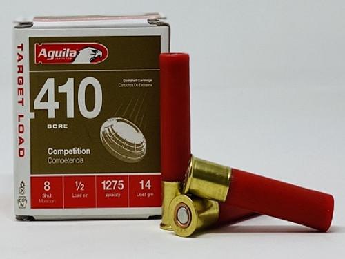 """Aguila 410 Bore Ammunition 1CHB4138 2.5"""" 1/2 oz #8 Shot 1275fps CASE 500 Rounds"""