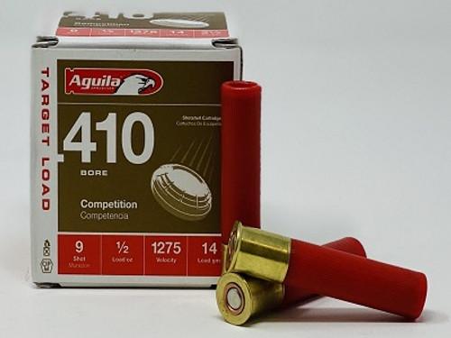 """Aguila 410 Bore Ammunition 1CHB4139 2.5"""" 1/2 oz #9 Shot 1275fps CASE 500 Rounds"""