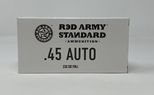Century Red Army Russian 45 Auto Ammunition AM3262 230 Grain Full Metal Jacket CASE 500 Rounds