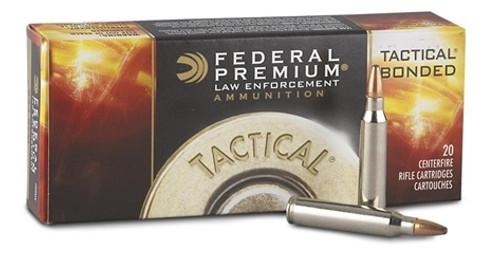 Federal 223 Rem Ammunition LE223T3 62 Grain Tactical Bonded Soft Point 20 Rounds